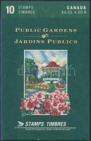 Botanic Garden stamp-booklet, Botanikus kert bélyegfüzet