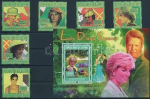Princess Diana set + block Diana hercegnő sor + blokk