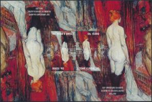 Painting Toulouse-Lautrec reversed pair, Festmény Toulouse-Lautrec fordított blokk pár