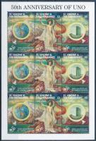 50th anniversary of UNO mini sheet, 50 éves az UNO kisív
