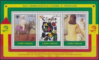 International Stamp Exhibition ESPANA: Madrid block, Nemzetközi bélyegkiállítás ESPANA: Madrid blokk