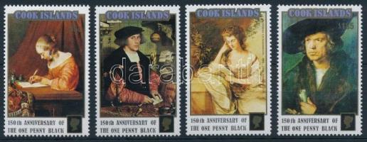International stamp exhibiton set, Nemzetközi bélyegkiállítás STAMP WORLD LONDON: Festmények sor