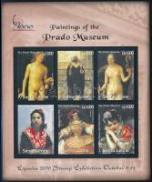 International Stamp Exhibition: Madrid; Paintings mini sheet Nemzetközi bélyegkiállítás: Madrid; Festmények kisív