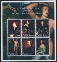 Van Dyck: Paintings mini sheet Van Dyck: Festmények kisív