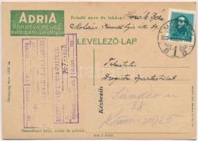 Hungarian razor blade advertisement card, Adria borotva penge reklámlapja
