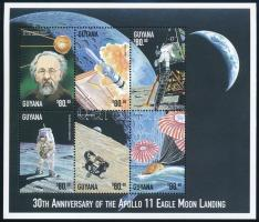 30th anniversary of First man on the Moon minisheet, 30 éve járt az első ember a Holdon kisív