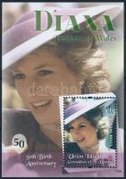 Princess Diana block Diana hercegnő születésének 50. évfordulója blokk
