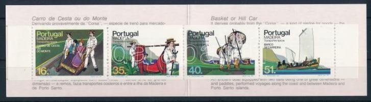 Madeira transport equipment stamp-booklet Madeirai szállítóeszközök bélyegfüzet