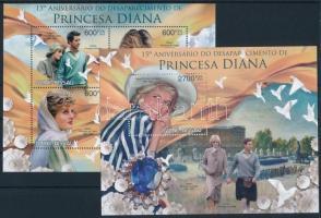 Princess Diana's death anniversary mini sheet + block Diana hercegnő halálának 15. évfordulója kisív + blokk
