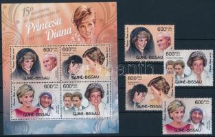 Princess Diana's death anniversary set + block Diana hercegnő halálának 15. évfordulója sor + blokk