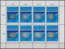Austrian export hologram mini sheet, Osztrák export hologramos kisív