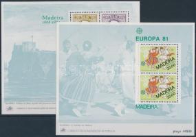 1980-1981 Stamp Day block + Folklore block, 1980-1981 Bélyegnap blokk + Folklór blokk