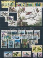 1963-2001 48 Birds and 1 block, 1963-2001 48 db Madár motívumú bélyeg és 1 blokk 2 stecklapon