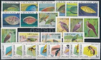 1981-1982 Animals 24 stamps 1981-1982 Állat motívum 24 klf bélyeg, közte sorok