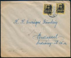 1945 (5. díjszabás) Távolsági levél Kisegítő 2 x 60P/18f bérmentesítéssel Ellenőrizve! bélyegzéssel