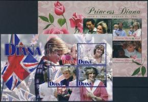 Princess Diana mini sheet Diana hercegnő kisív sor