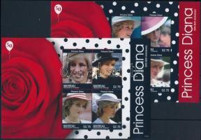 Princess Diana mini sheet set, Diana hercegnő születésének 50. évfordulója kisív sor