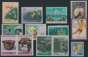 Japan 2 sets + 7 stamps, Japán 2 klf sor + 7 önálló érték
