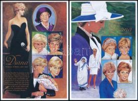 Princess Diana mini sheet set Diana hercegnő halála kisív sor