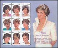 Princess Diana's death mini sheet Diana hercegnő halála kisív