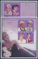 Princess of Diana's 5th Death Anniversary mini sheet set Diana hercegnő halálának 5. évfordulója kisív sor