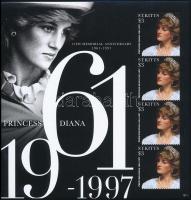 Princess Diana mini sheet Diana hercegnő halálának 15. évfordulója kisív
