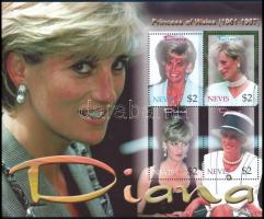 Princess Diana's death anniversary mini sheet + block Diana hercegnő halálának 5. évfordulója kisív + blokk