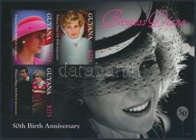 2011 Diana hercegnő születésének 50. évfordulója kisív Mi 8250-8252