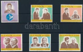 1967 John F. Kennedy 50. születésnapja sor Mi 1374-1379