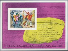 Independence of the United States imperforated block, Amerikai Egyesült Államok függetlensége vágott blokk