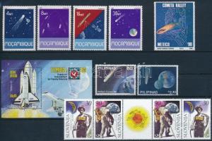 1983-1999 Space Research 3 sets + 1 block + 1 stamp, 1983-1999 Űrkutatás motívum 3 db sor + 1 blokk + 1 db önálló érték