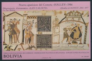 Halley comet imperforated block Halley-üstökös vágott blokk