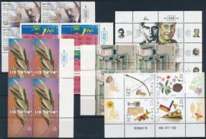 1996-2002 5 blocks of 4 + 1 mini sheet 1996-2002 5 db négyestömb és egy kisív