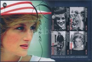 Princess Diana mini sheet, Diana hercegnő születésének 50. évfordulója kisív