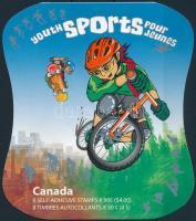 Ifjúsági sportok öntapadós bélyegfüzet, Youth sports self-adhesive stamp booklet