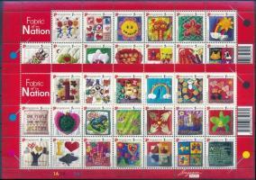 National holidays, textworks of schoolchildren complete sheet, Nemzeti ünnep, iskolások textilmunkái teljes ívek