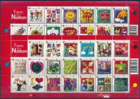National holidays, textworks of schoolchildren complete sheet Nemzeti ünnep, iskolások textilmunkái teljes ívek