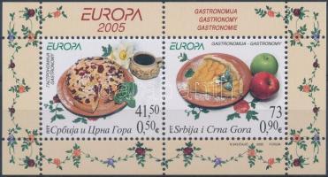 Europe CEPT: Gastronomy block, Europa CEPT: Gasztronómia blokk