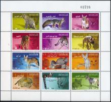 Predatory animals complete sheet Ragadozó állatok teljes ív
