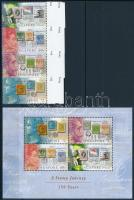 150th anniversary of stamp use in Singapore margin set + block 150 éves a bélyeghasználat Szingapúrban ívszéli sor + blokk