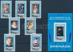 Rubens paintings set + block, Rubens festmény sor + blokk