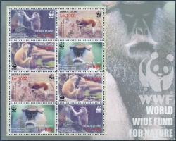 WWF Monkies mini sheet, WWF: Majmok kisív