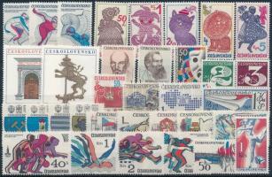 Czechoslovakia 10 sets + 5 stamps, Csehszlovákia 10 klf sor + 5 önálló érték