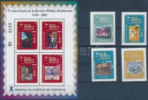 Médica journal set + block 75 éves a Médica folyóirat sor + blokk