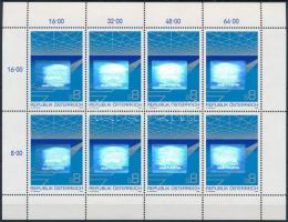 Austrian export hologram mini sheet Osztrák export hologramos kisív