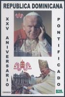 25th anniversary of John Paul II´s papacy block II. János Pál 25 éve pápa vágott blokk