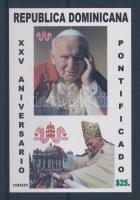 2003 II. János Pál 25 éve pápa vágott blokk Mi 53
