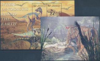 Prehistoric Animals minisheet + block Ősállatok kisív  + blokk