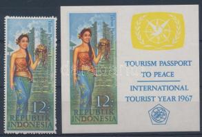 The year of the Tourism + imperforated block, A turizmus éve + vágott blokk