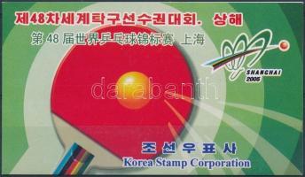Table tennis stamp booklet Asztalitenisz világbajnokság bélyegfüzet
